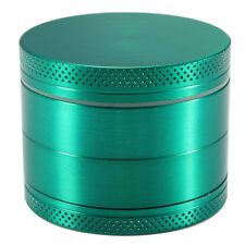"2"" 50mm Cigarette Herb Spice Grinder Crusher Hand Muller Mill 4 Layers GREEN"