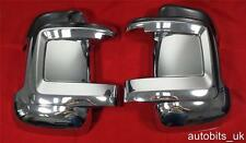 CHROME MIRROR COVERS SET FOR FIAT DUCATO 2006+ PEUGEOT BOXER 2006+