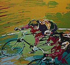 "LEROY NEIMAN ""INDOOR CYCLING"" SPORTS  ART POSTCARD"