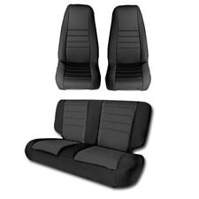 1987-1990 Jeep Wrangler & CJ7 Custom Neoprene Front & Rear Seat Covers Black