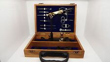 Crown Fly tying tool kits in a wooden box, Vice, tools, ( code FT63 )
