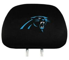 CAROLINA PANTHERS CAR AUTO 2 TEAM HEADREST COVERS  NFL FOOTBALL