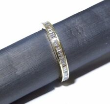 Ladies 14k Yellow Gold Channel Setting White Diamond Eternity Band Ring 1.19ct