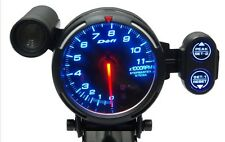 DEFI Racer 80mm Blue 11000 RPM Gauge! Brand New! Shift Light! Tachometer DF12101