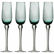 Set Of 4 Blue Nile Drinking Glasses Champagne Flute Wine Glass Drink Gift Box