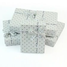 5Pcs Paper Jewellery Jewelry Ring Necklace Present Gift Box Display Package Case