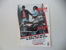 advertising Pubblicità 1984 MOTO CAGIVA ALETTA ELECTRA 125