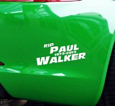 Aufkleber RIP Paul Walker Auto JDM Tuning OEM Decal Stickerbomb 15x6 cm weiß