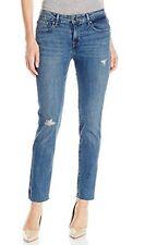 Womens New Levi's Mid Rise Slim Skinny Medium Wash Distressed Jeans Size 31 x 32