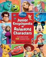 Disney Junior Encyclopedia of Animated Characters Hardcover Includes Poster