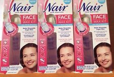 6 PACK NAIR HAIR REMOVER EYEBROWS & FACE ROLL-ON SUGAR WAX KIT FACIAL 120 STRIPS
