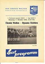 DDR-Liga 80/81 BSG Chemie Wolfen-SG Dynamo Eisleben 07.10.1980