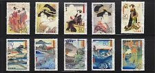 JAPAN 2012 UKIYOE ANCIENT PAINTINGS SERIES 1 COMP. SET OF 10 STAMPS IN FINE USED