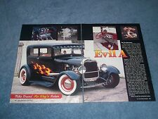 """1929 Ford Hot Rod Model A Sedan Article """"Evil A"""" ----From 2006----"""