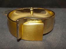 Fabulous Vintage signed LANVIN PARIS Art Deco Modernist Cuff Hinged Bracelet