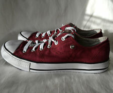 Lee Cooper Size 6 UK Burgundy Low Top Trainers Baseball Shoes VGC