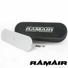 RAMAIR Twin Carb Bolt On Air Filters Custom Throttle Body 100mm Internal Height