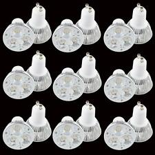 10PCS GU10 LED bulb 9W Super bright 3x3W Spot Light Warm white Lamp