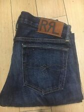RRL Ralph Lauren Slim straight helm wash sz 34/34 Selvedge Jeans, new cut 1198