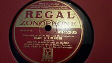 GRAND MASSED BRASS BANDS BONDS OF FRIENDSHIP REGAL ZONOPHONE MR2905