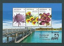 AUSTRALIA 2016 MANDURAH STAMP SHOW MINIATURE SHEET UNMOUNTED MINT, MNH