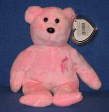 TY PROMISE the BREAST CANCER AWARENESS BEAR BEANIE BABY - MINT with MINT TAGS