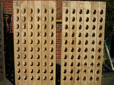 60 Bottle Riddling Wine Rack + Producer Branding untreated (natural) massive oak