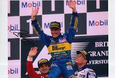 Johnny Herbert Hand Signed Mild Seven Benetton12x8 Photo F1 2.