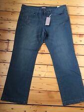 BNWT TRIANGLE BY S OLIVER LADIES LUXURY JEANS D 52 F 54 UK PLUS SIZE 26 LEG 30""