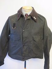 """BARBOUR a130 SPEY WAXED JACKET-L 42-44"""" EURO 52-54 in Verde Pesca a Mosca"""