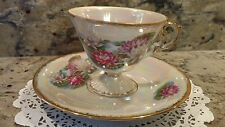 ONE JULY WATERLILY TEA CUP & SAUCER SET WITH MOTHER OF PEARL FINISH