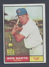 1961 Topps #35 Ron Santo Chicago Cubs EX Plus