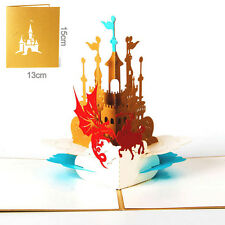 Knight Castle 3D Pop Up Greeting Card Christmas Birthday Valentine Invitation