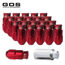 GDS 20 Red 50mm Extended Aluminum Wheel Lug Nuts M12x1.5 for Honda Toyota Camry