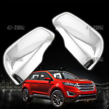 For 15-16 Ford Edge ABS Plastic Chrome Side View Mirror Cover Trim Cap Set