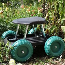 Garden Rolling Chair Seat Scooter W/ Tool Tray Gardener Artist Painting Cart NEW