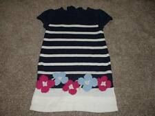 Gymboree Girls Charm Class Striped Flower Sweater Dress Size 3T 3 Toddler Fall