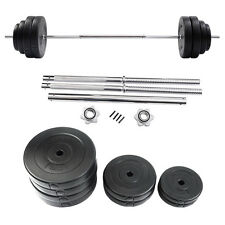 Goplus 132 LB Barbell Dumbbell Weight Set Gym Lifting Exercise Curl Bar Wor