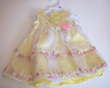 Baby Grand Signature Dress Bloomer Set Yellow w/rosette 6-9 months New With Tags