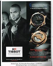 Publicité Advertising 2012 La Montre Le Locle Chronomètre Tissot  Tony parker