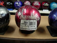 10# 4oz  Mexico Brunswick Retired SLINGSHOT Red-Silver Reactive Bowling Ball