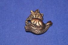 Reproduction BRITISH ARMY KING'S COLONIAL'S CAP BADGE AMERICAN WITH BEAVER