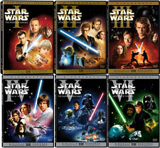 Star Wars DVD Trilogy Complete Saga Own All 6 Widescreen Movies on 9 Discs