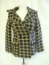 Ladies Coat - Old Navy, size XS, brown/beige/black, wool mix, button up - 1328