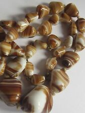 VINTAGE VENETIAN MURANO GLASS AGATE BEAD NECKLACE