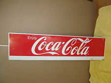 Vintage Coca Cola Coke Steel Sign Advertising S94