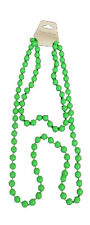 LONG BEADS NECKLACE IN GREEN COLOUR FOR FANCY DRESS 70s 80s PARTIES