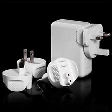 New 4 Ports USB Multi Travel Adapter AC Wall Charger with UK/EU/US/AU Plug White