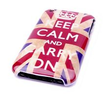 Custodia protettiva per Apple iPhone 3gs 3g Case Borsa Inghilterra GB UK keep Calm Carry On