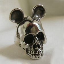 Mexican Biker Ring Skull sterling silver Mickey Mouse unique men cute cartoon